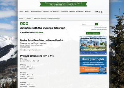 Durango Telegraph Website