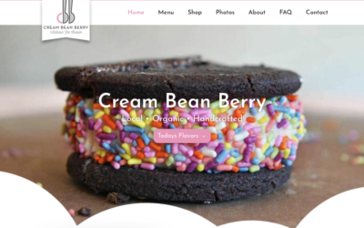 New Website for Cream Bean Berry