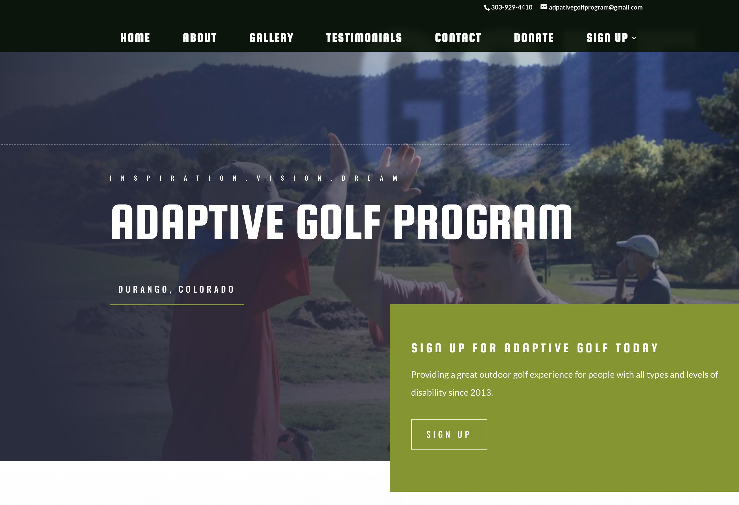 Adaptive Golf Program